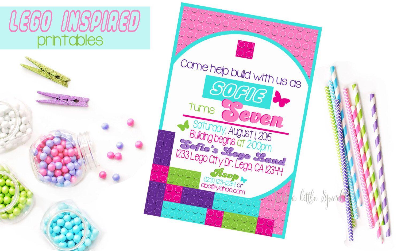 Lego Friends Birthday Invitation, Printable Lego Friends invite ...