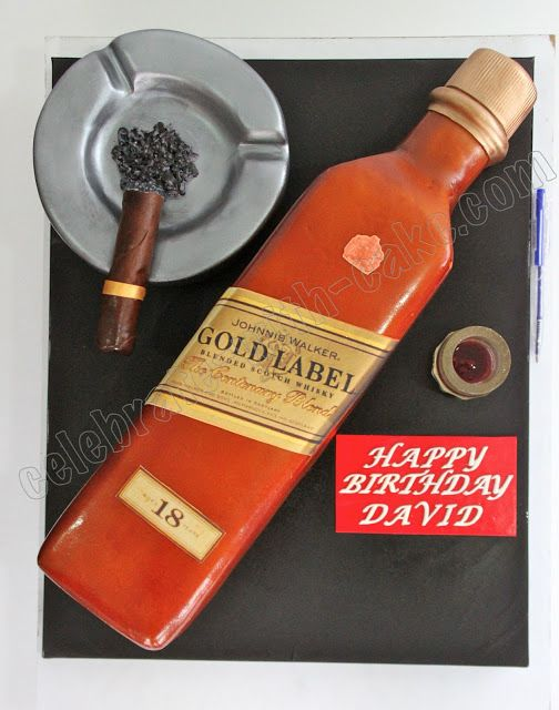 Celebrate With Cake Johnnie Walker Whiskey Bottle Cake Cakes For