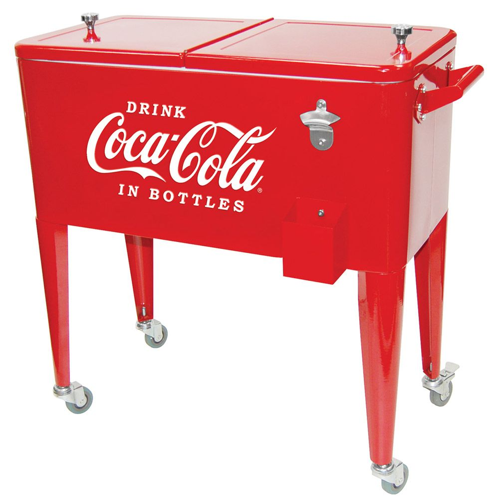 Old Fashioned Coca Cola Ice Chest Cart Cooler For The