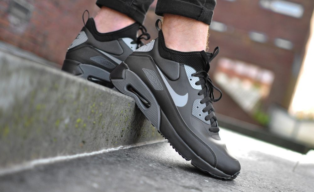 2d2ba5a55f NIKE AIR MAX 90 ULTRA MID WINTER BLACK, COOL GREY & ANTHRACIT SNEAKERS ALL  SIZES