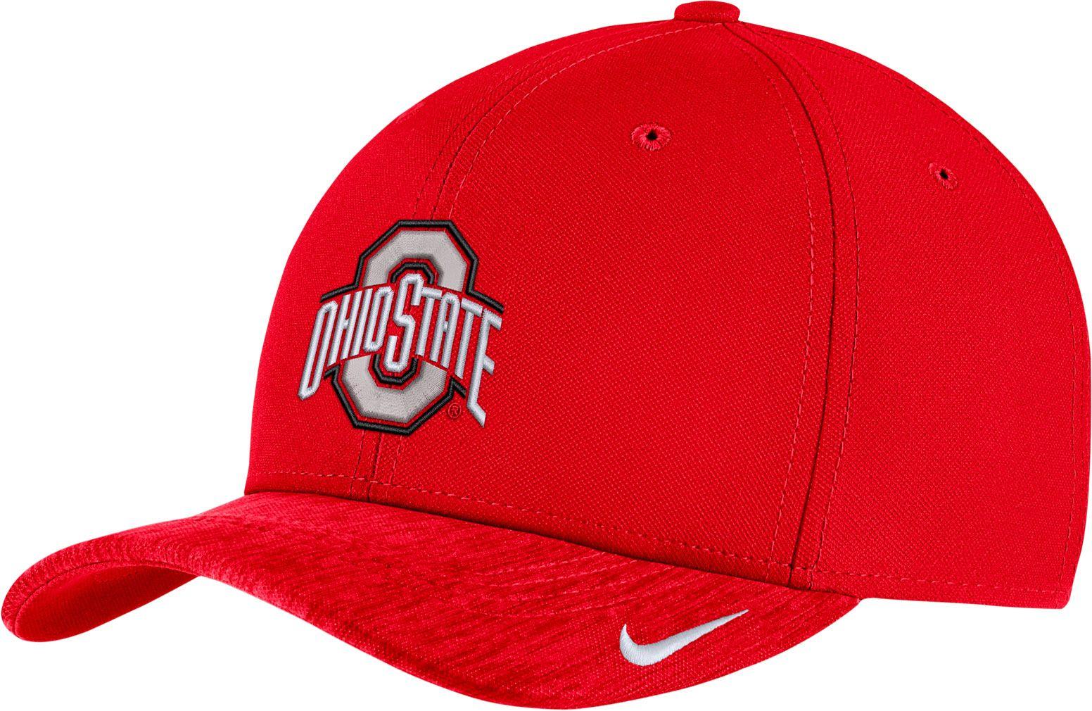 8a3b7f86b63d5a ... sale nike mens ohio state buckeyes scarlet aerobill swoosh flex  classic99 football sideline hat team 7cb30