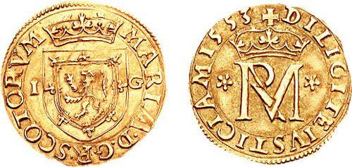 Mary of Scotland shilling 1553 692197 - Maria da Escócia – Wikipédia, a enciclopédia livre