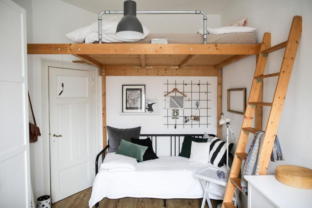 wundersch nes wg zimmer mit eingebautem hochbett in bielefelder innenstadt ideen f rs wg. Black Bedroom Furniture Sets. Home Design Ideas