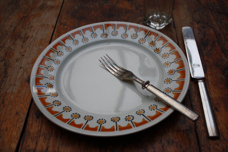 Art deco badonviller france radio set of french plates
