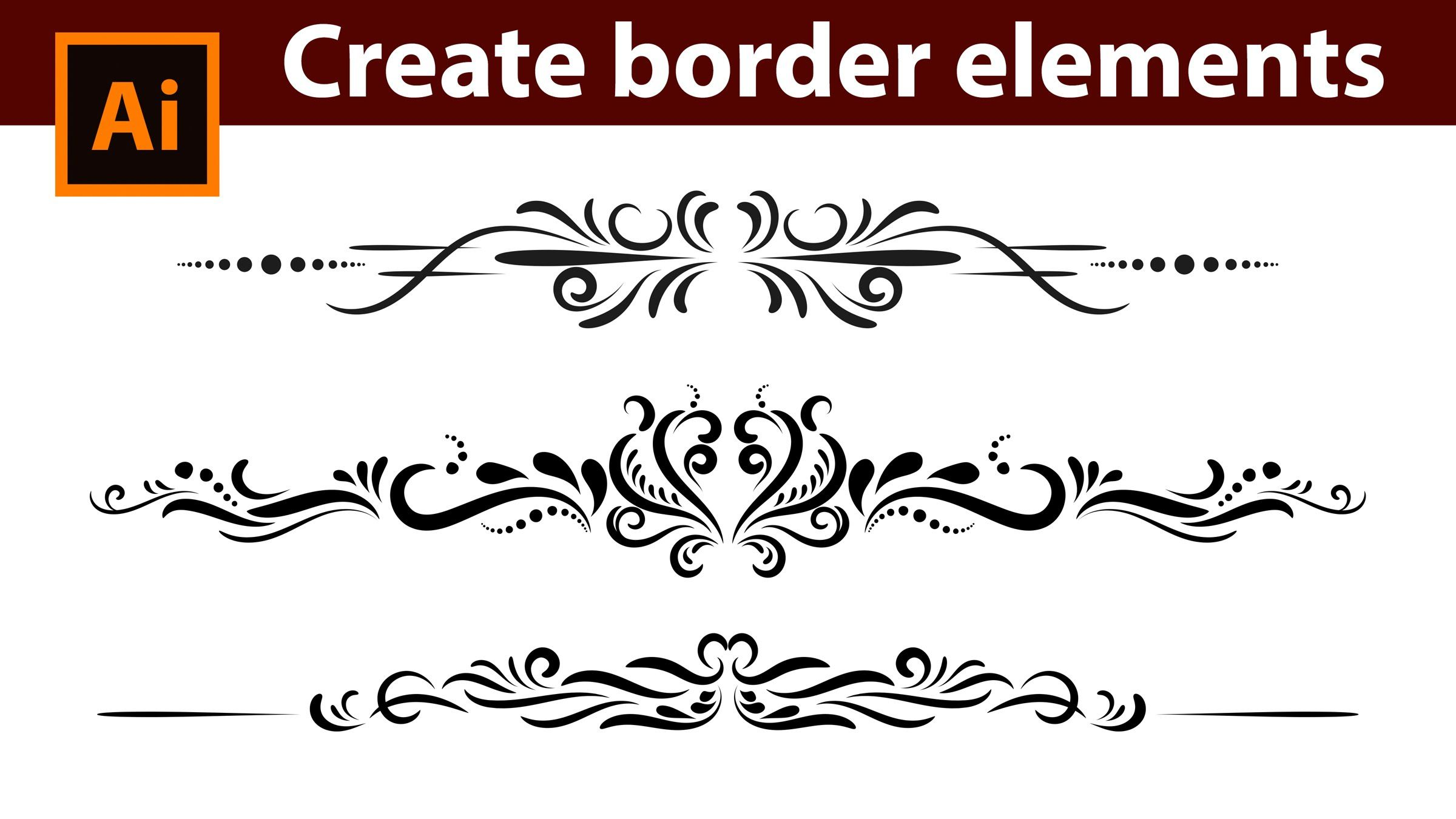 Adobe Illustrator Tutorial How To Design Vintage Border Elements Illustrator Tutorials Graphic Design Tutorials Vintage Logo Design