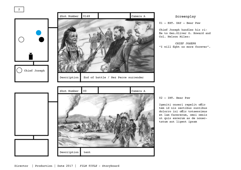 Paginated Storyboard Template With Set Plan For Adobe InDesign Markup IDML Format This Is Useful If You Have Slightly Complex Scenes