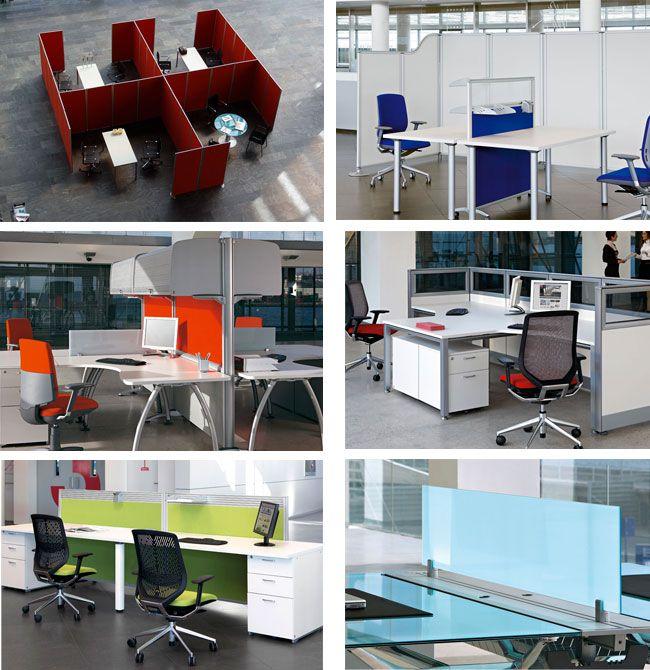 separadores de mesas de oficina | Offices | Oficinas, Mesa de ...
