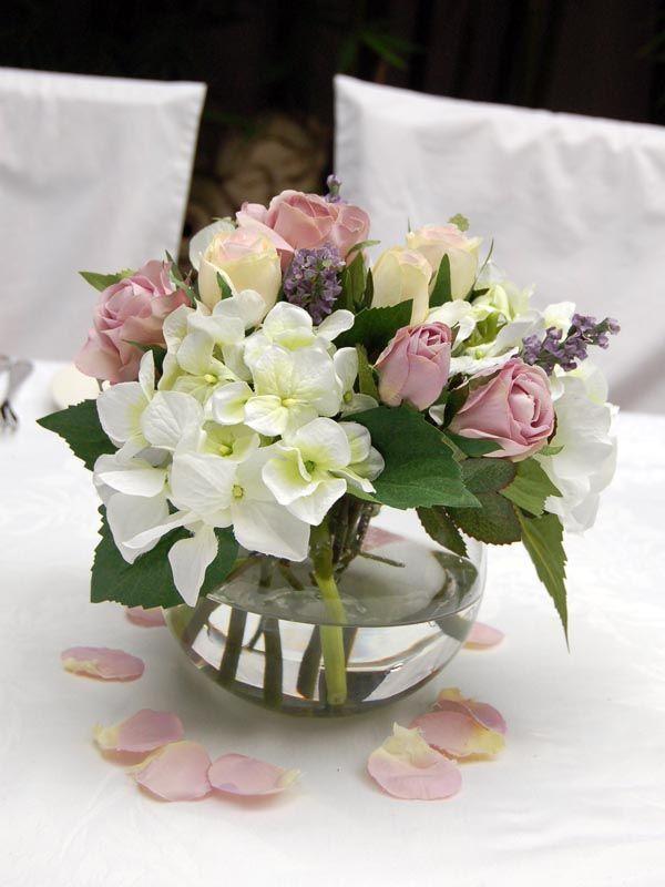lavender glass vases medium pastel rose hydrangea rh pinterest com