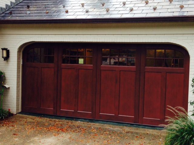 Good Rhapsody Series Pre Stained No Maintenance Composite Garage Door With  Custom Ellipse Corners In Bethesda