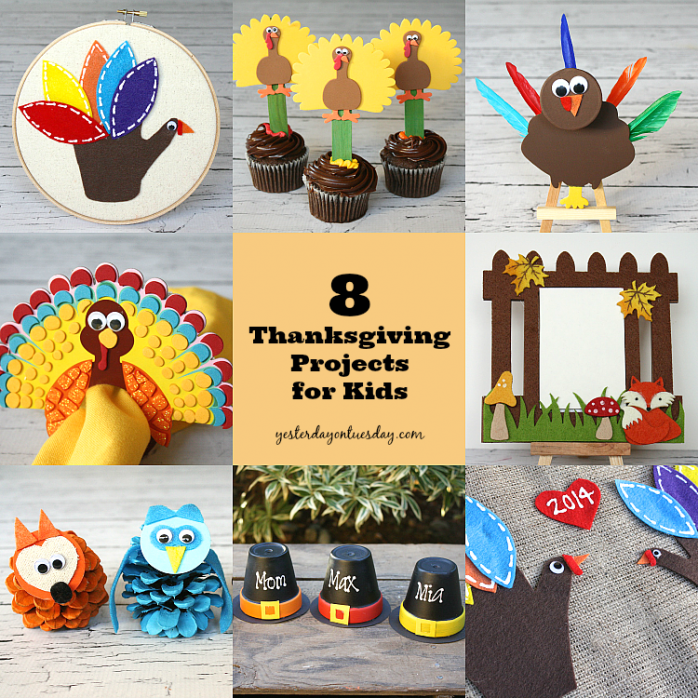 Fun Thanksgiving Crafts For Kids Part - 22: Easy And Fun Thanksgiving Craft Projects For Kids From  Http://yesterdayontuesday.com