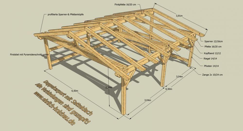 Www Ehrlich Holzbau De Bausatz Detail Php Id 15 Carports Holzrahmen Pavillon Dach
