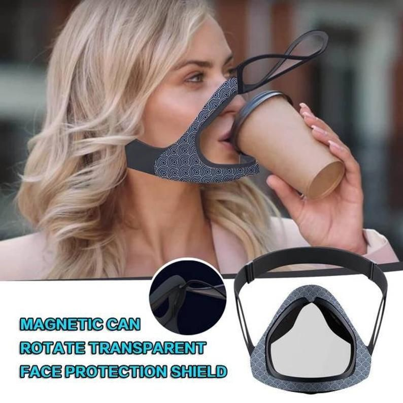 Photo of Transparent Face Mask Clear Magnetic Shield