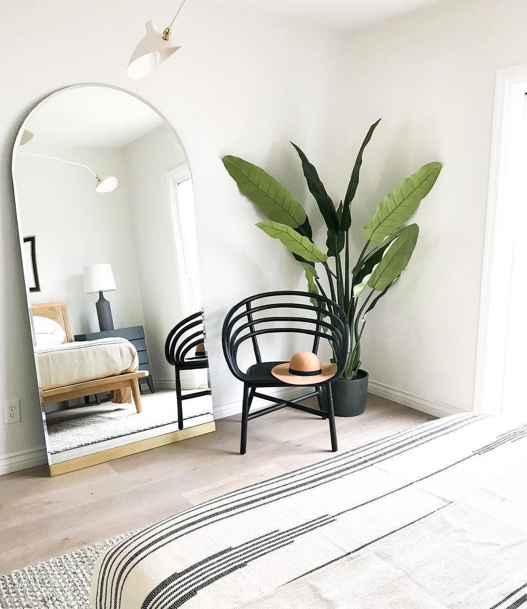Floor Mirror Decorating Ideas That Will Improve Your Space Minimalist Bedroom Decor Modern Boho Bedroom Home Decor Bedroom