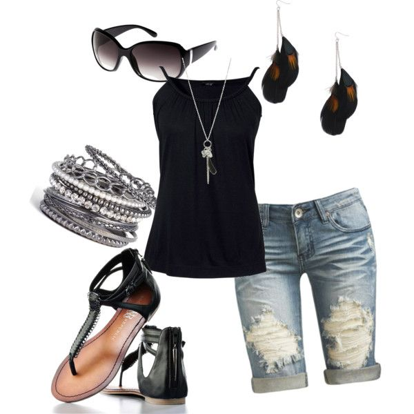 Black Casual, created by jaxnjo on Polyvore