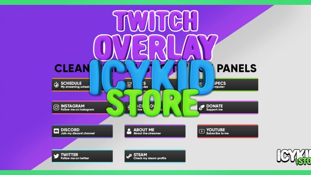 Twitch / Streaming Panels Clean Minimalistic Twitch