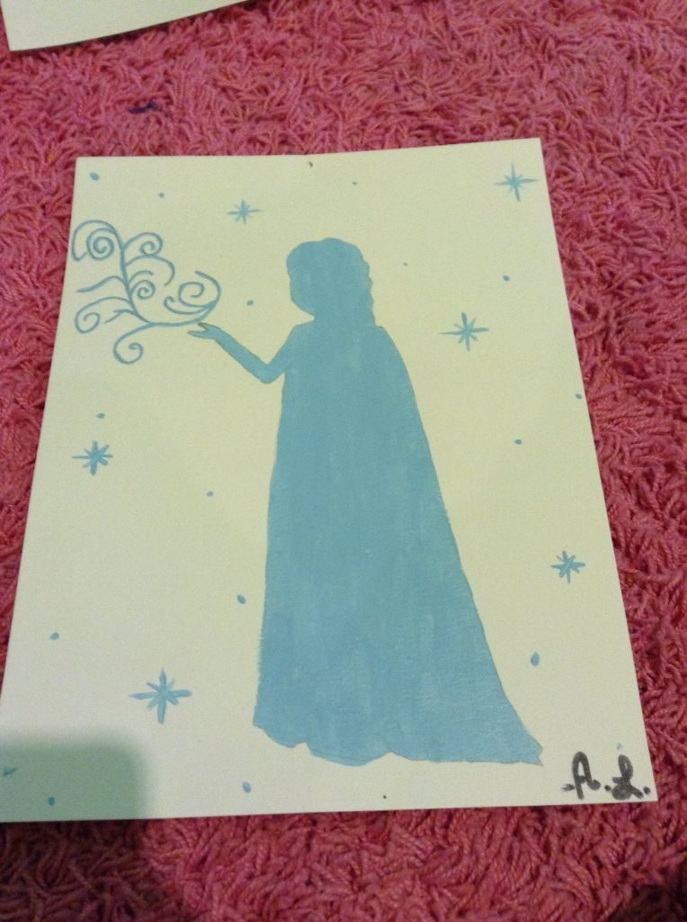 Painting by Ashley Lyle - Disney movie Frozen