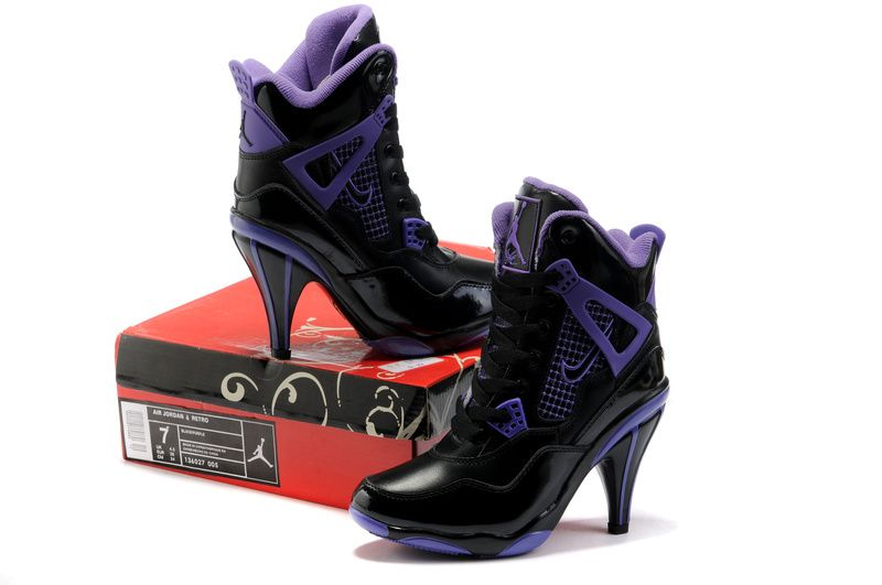 women jordan shoes | Women High Heels Black Purple - $79.99 : Buy ...