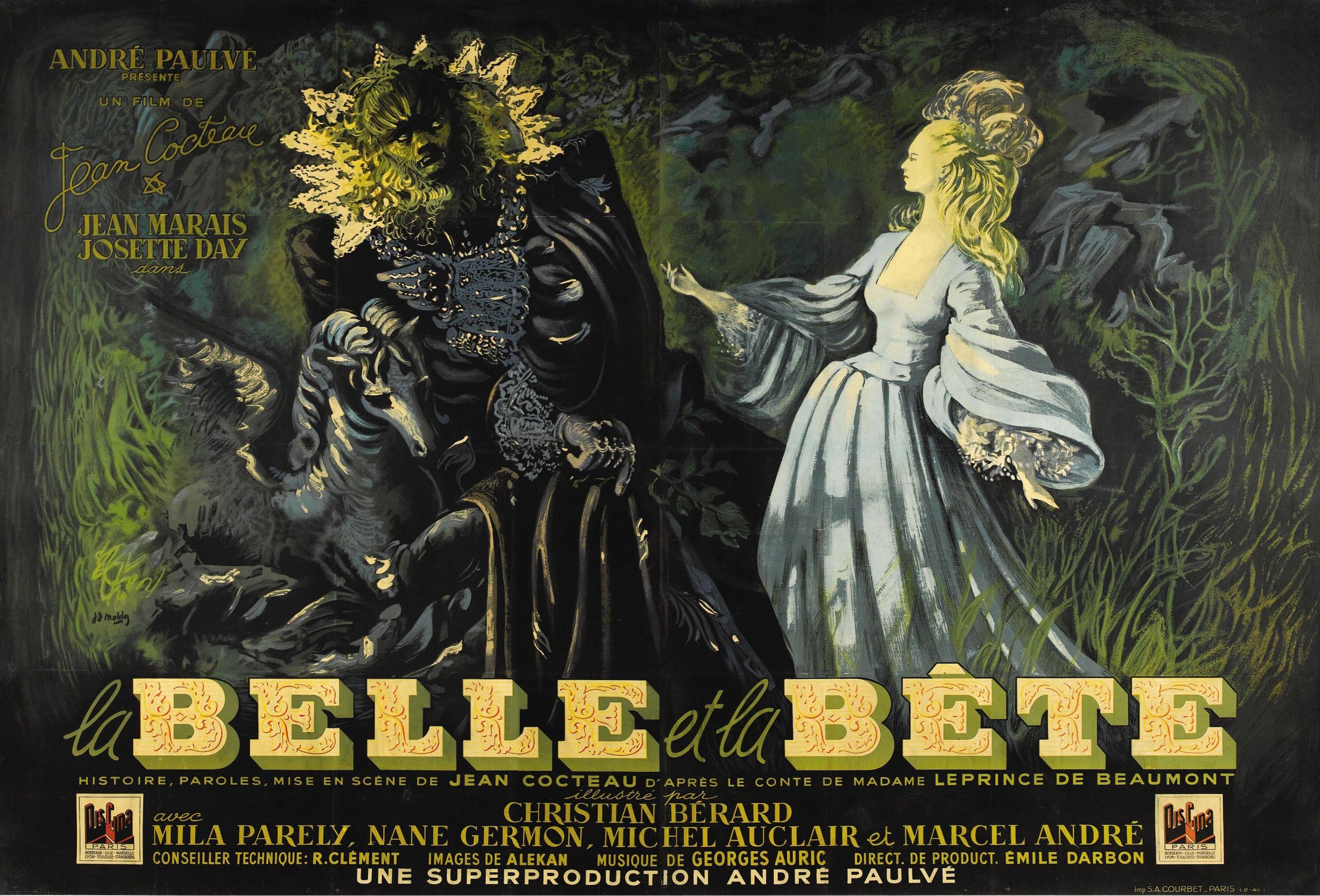 Chez Jeanne Paquin Pierre Cardin Rencontre Jean Cocteau Et Christian Berard Qui Lui Confieront L Beauty And The Beast Movie The Beast Movie Vintage Poster Art