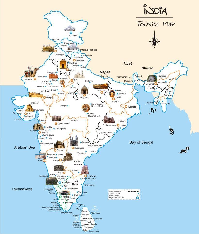 India Tourism Map Taj Mahal tours offer Tailor Made Tours India, Plan your India