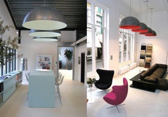 Design Woonkamer Lampen : Grote hanglamp design van kunstlicht via lichtkunde