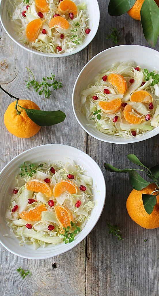 cleansing winter white salad with mandarin and fennel | Inspired Edibles