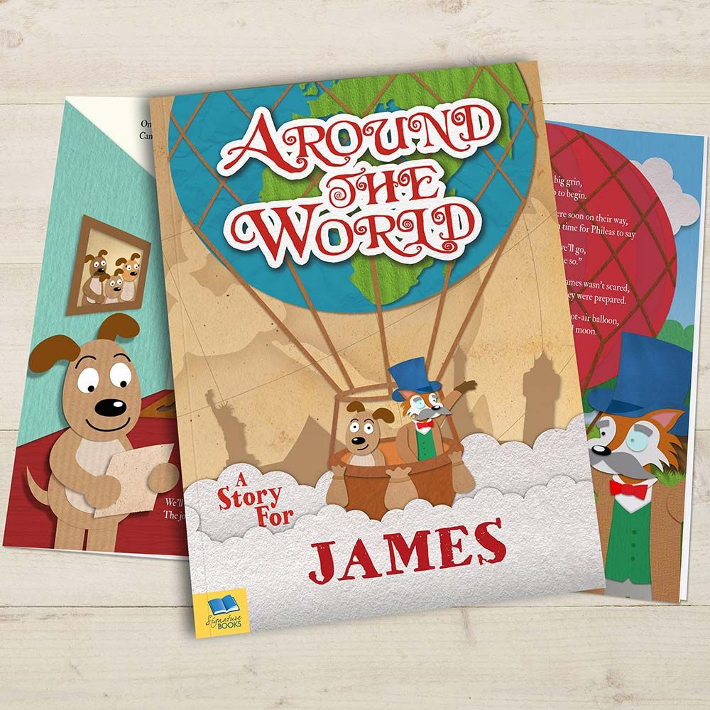 Introduce your little one to the big wide world with this brilliant Personalised Around the World Book! It'll take them on a special journey through all the continents and teach them about different cultures.  In this magical storybook, your child is taken on an amazing round-the-world trip with their friend Phileas Fox for company.
