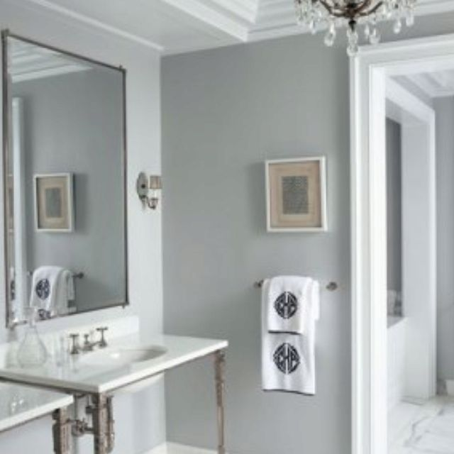 Pin By Emily Louise Carter On New House Room Paint Ideas Bathroom Wall Colors Gray Painted Walls Bathroom Paint Colors