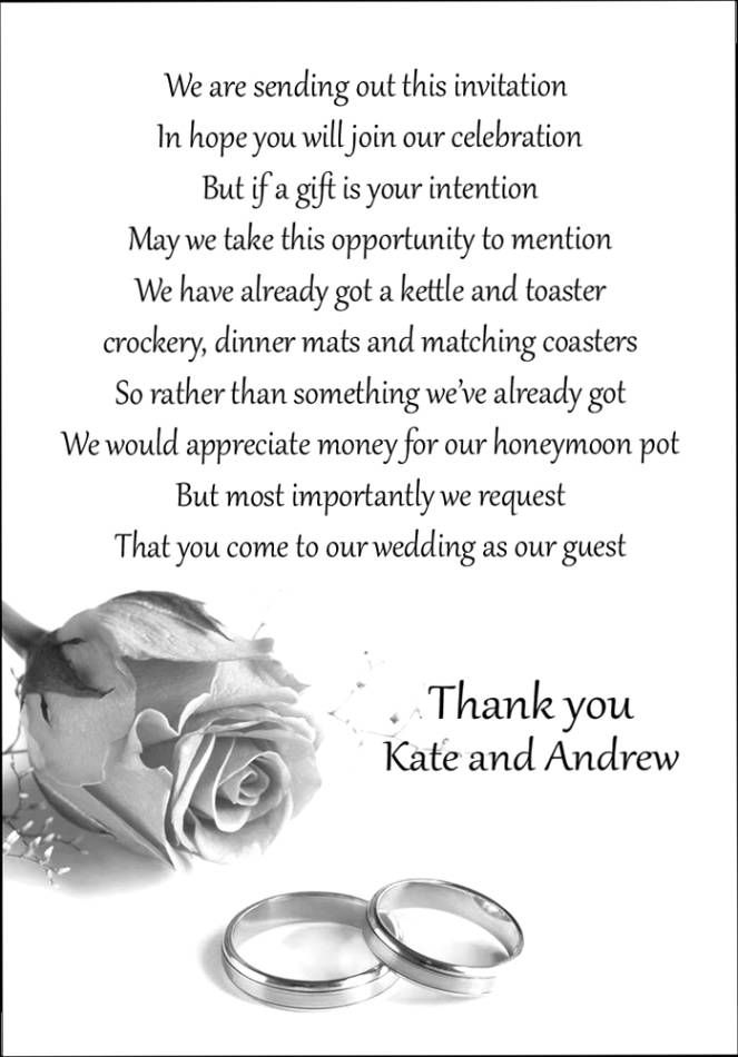 Wedding Gift Thank You Notes | Wedding Images | Pinterest ...