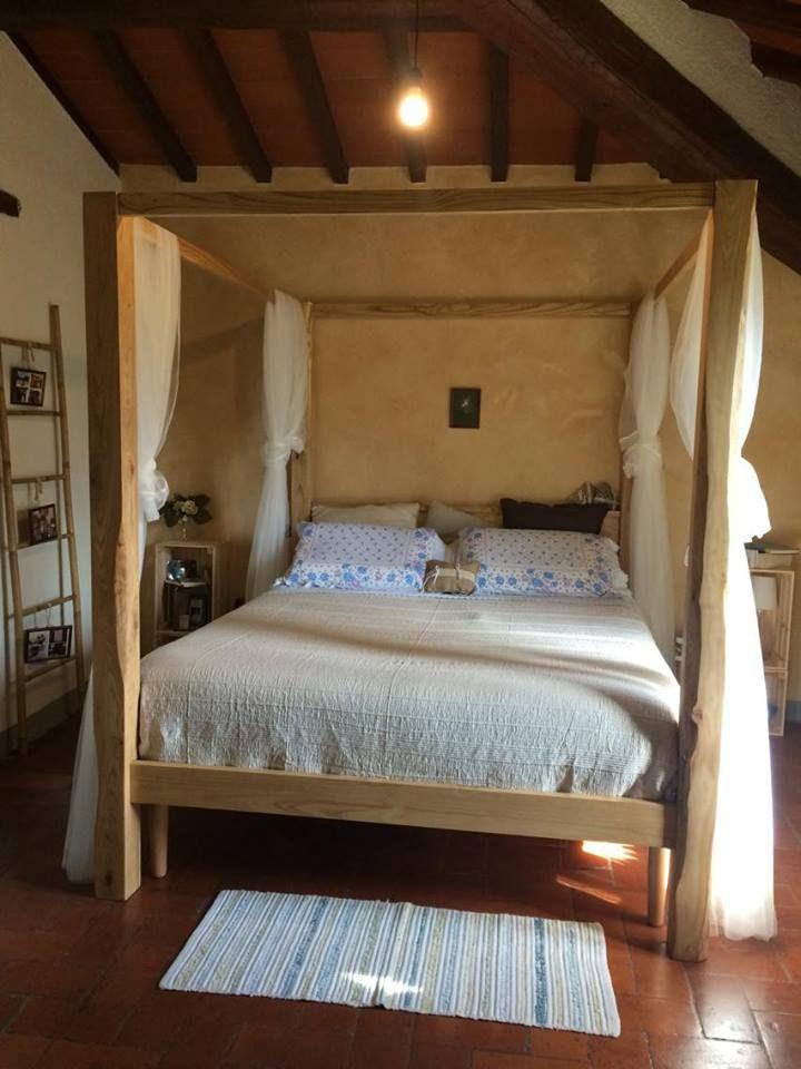 Letto matrimoniale baldacchino in legno di castagno made in italy letti nel 2019 pinterest - Baldacchino letto ...
