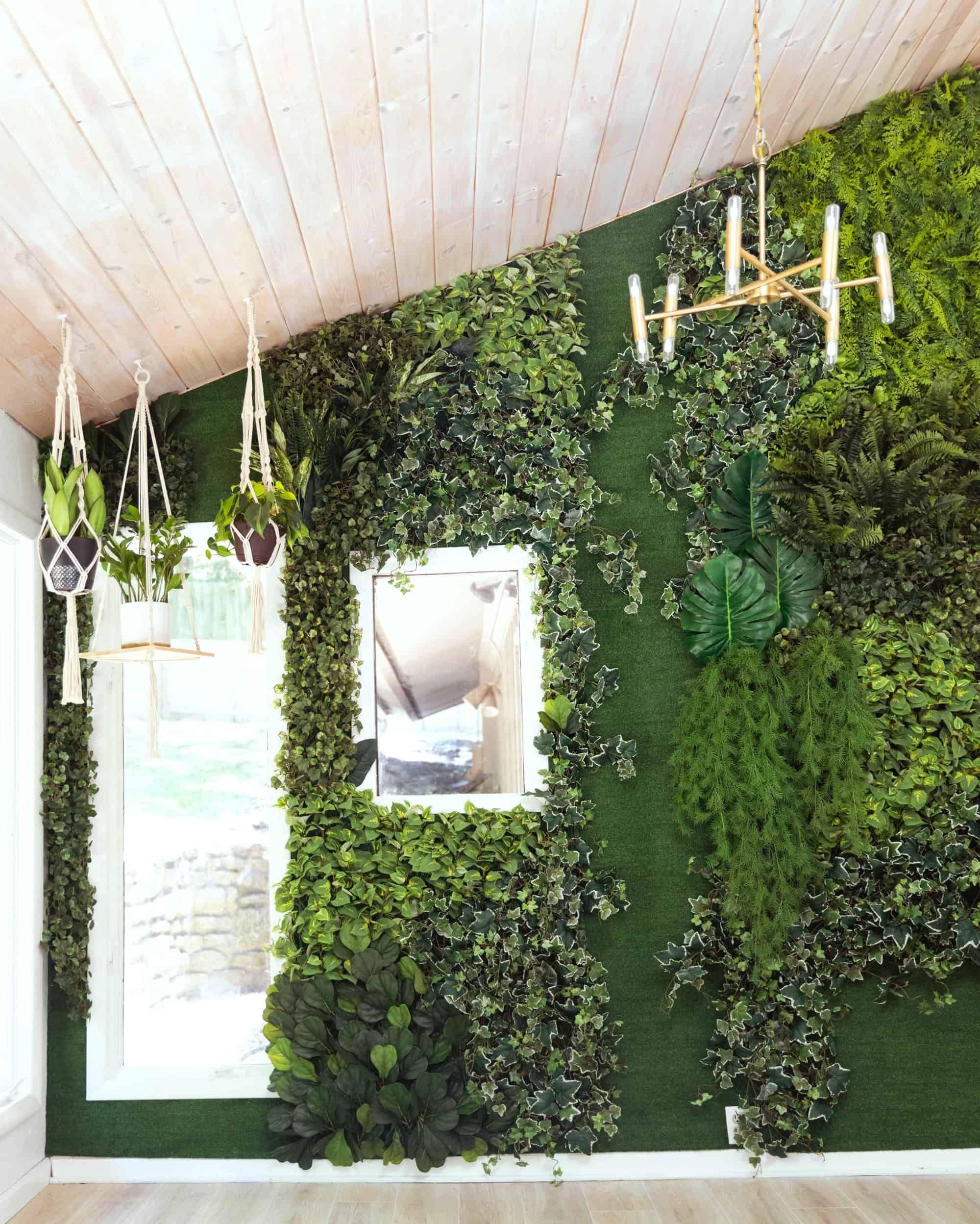 Diy Faux Living Wall A Beautiful Mess Living Wall Diy Living Wall Living Wall Planter