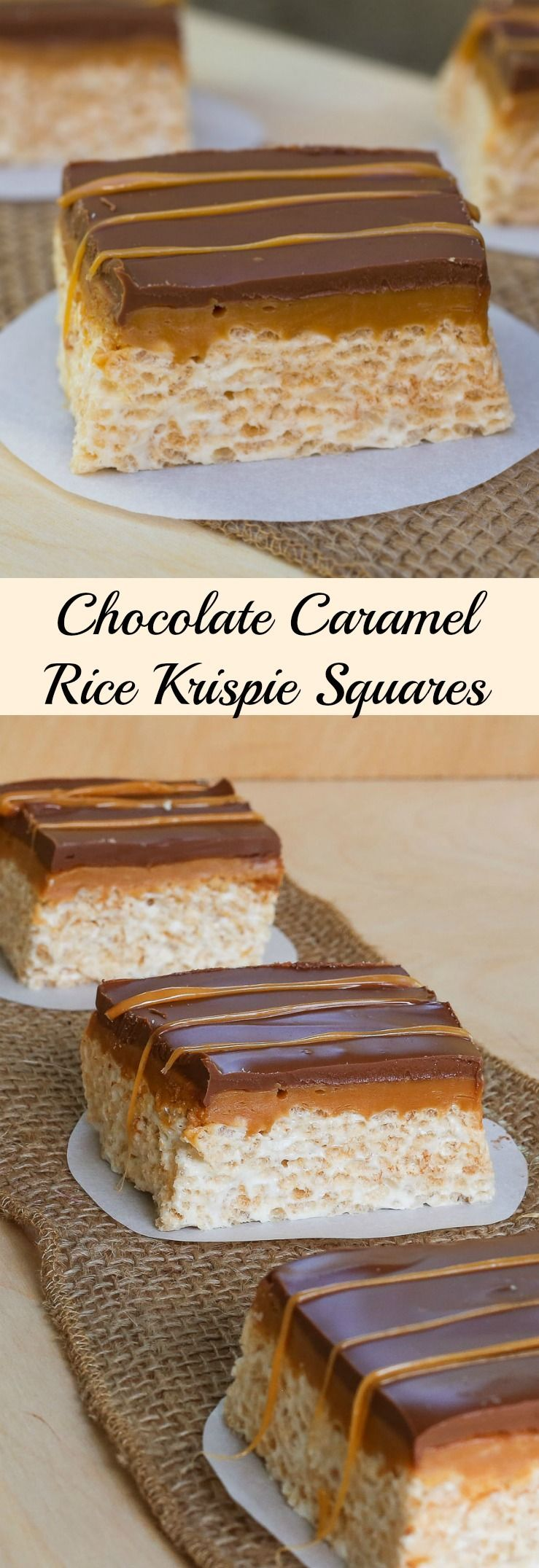 Caramel Rice Krispie Squares This recipe for Chocolate Caramel Rice Krispie Squares takes an old time favorite to a whole new level. Rice Krispie squares with peanut butter, a gooey caramel layer, then topped with chocolate!This recipe for Chocolate Caramel Rice Krispie Squares takes an old time favorite to a whole new level. Rice Krispie squares with peanut bu...