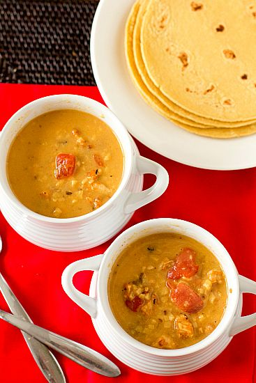 Chicken Tortilla Soup - a copycat recipe of Max & Erma's famous tortilla soup.