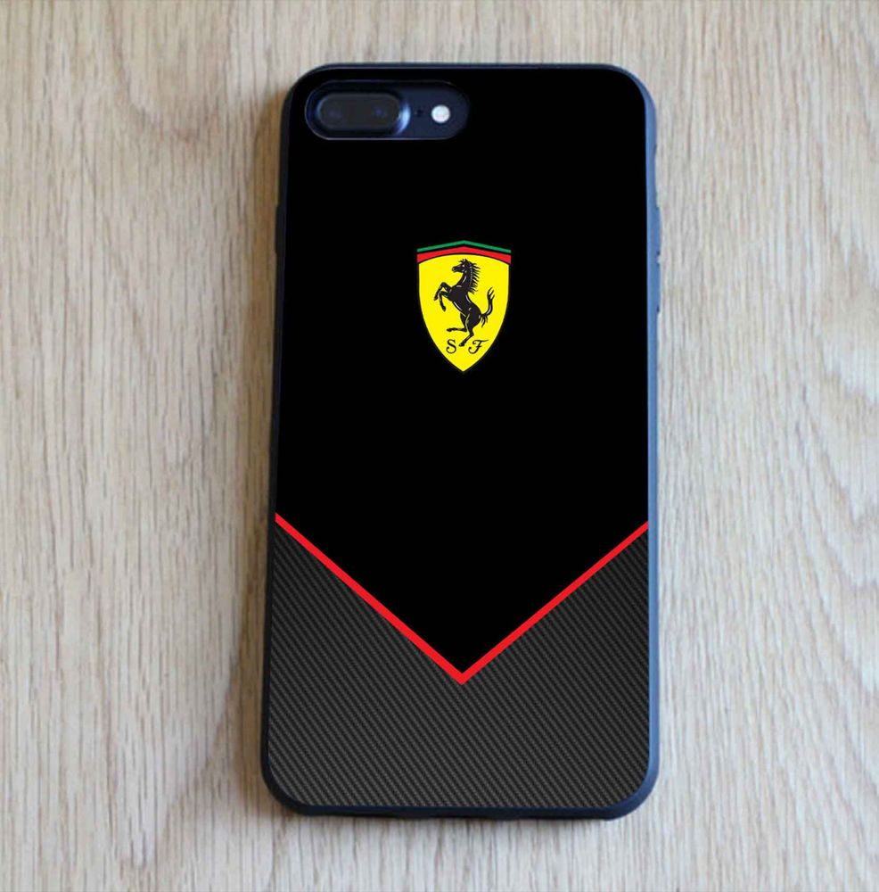 the latest 20a48 b66ef Cheap Ferrari Black Carbon Custom for iPhone 6/6s, 6s+ Print On Hard ...