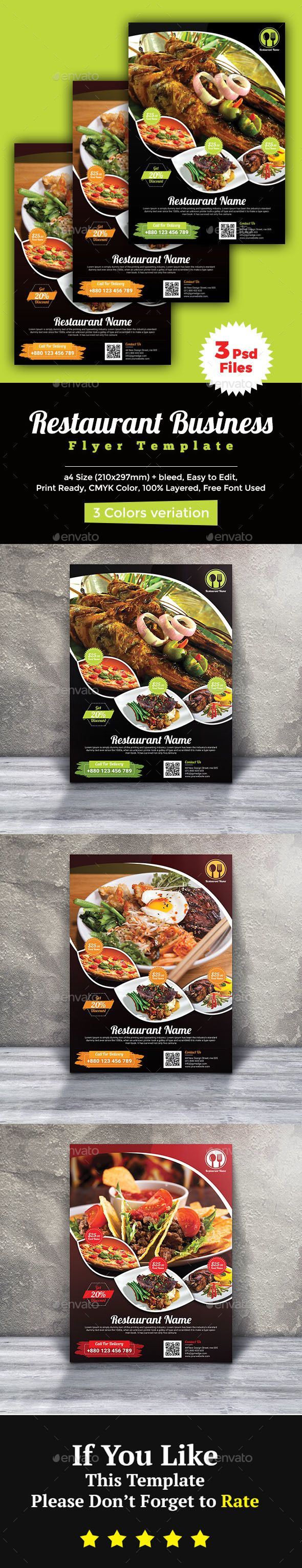 Restaurant Flyer  Flyer Template Template And Fonts