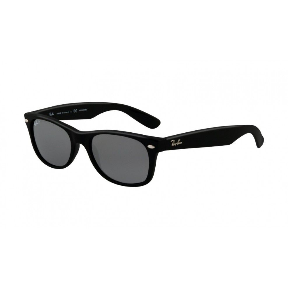 511da6a099678 Ray-Ban RB2132 New Wayfarer Glossy Black Silver