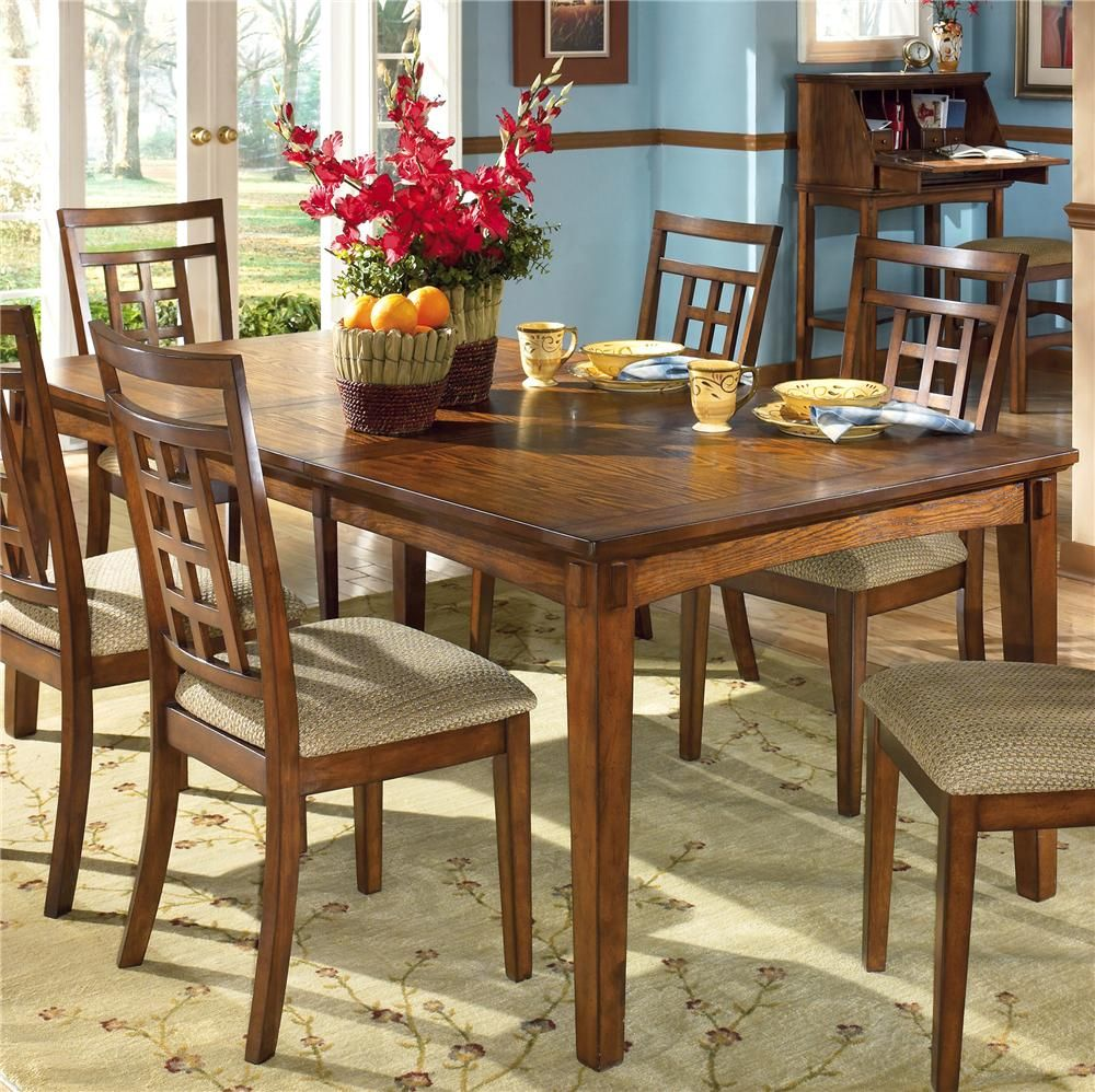 Normal dining room - Cross Island Rectangular Extension Table By Ashley Furniture