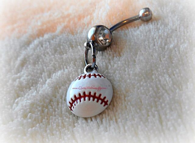 Softball Baseball Belly Button Piercing Belly Button Rings In 2019