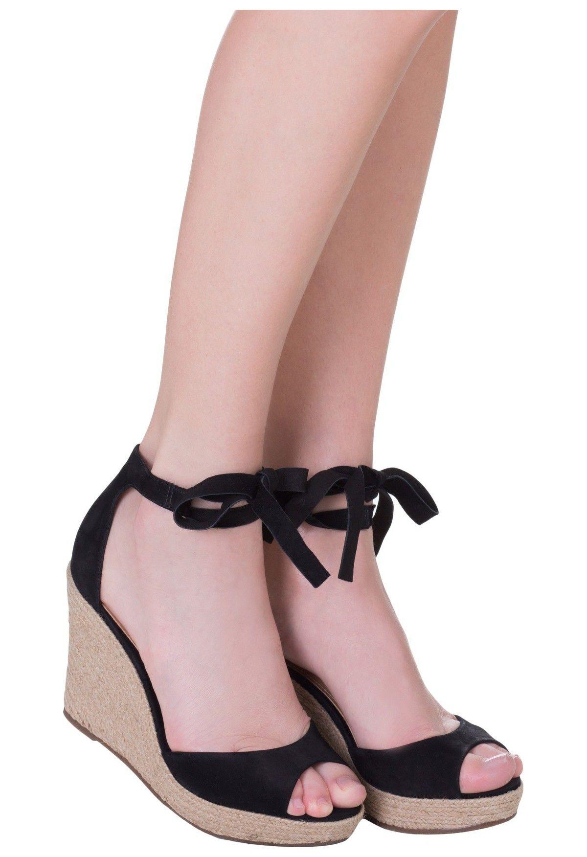 754f9c171 SCHUTZ - Sandália plataforma ballerina - preta - OQVestir | zapatos ...