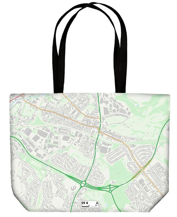 Shopping Bag Sheffield S9 4 Map