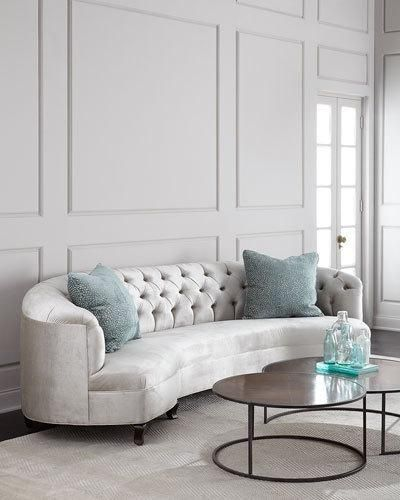Perfect HB32S Haute House Mansfield Monroe Tufted Sofa