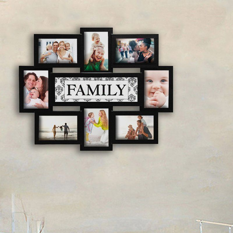 Giddings Family Theme Wall Hanging 8 Opening Photo Sockets Picture Frame Picture Frame Designs Family Picture Frames Family Tree Wall Hanging
