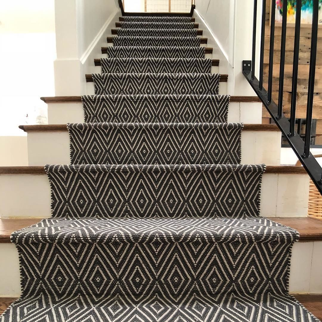 Diamond Black Ivory Indoor Outdoor Rug Dash Albert Stair Runner Carpet Stair Runner Carpet Stairs