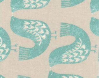 1458 Scandi Vogel Aqua Wachstuch Tischdecke Oder Pvc Tischdecke Matt Finish Art