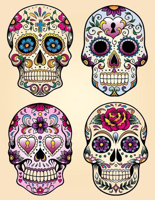 Savvy 04 Aufkleber Sugar Skull 9 x 9 cm Dia de los muertos Katze Mexiko