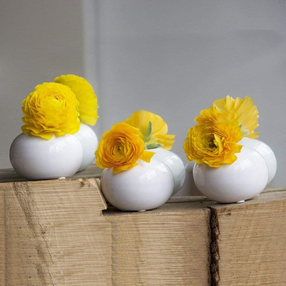Chive jojo small oval ceramic flower vase decorative