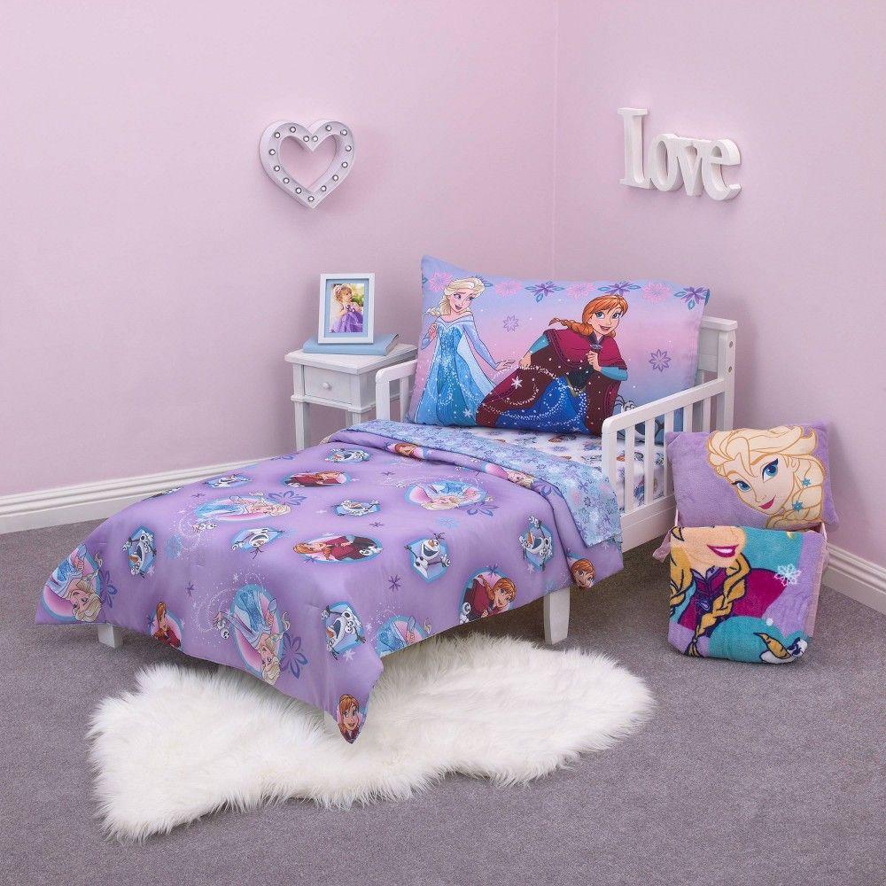 Frozen 4pc Stirring Up Fun Toddler Bedding Set Toddler Bed