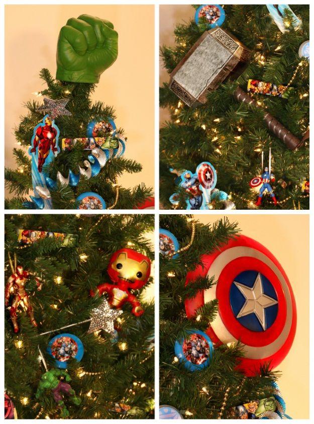 6 Pop Culture Christmas Trees Fun Com Blog Book Christmas Tree Nerd Christmas Superhero Christmas