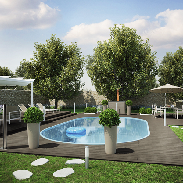 Come arredare un giardino con piscina facile da pulire fai for Arredare giardino con piscina