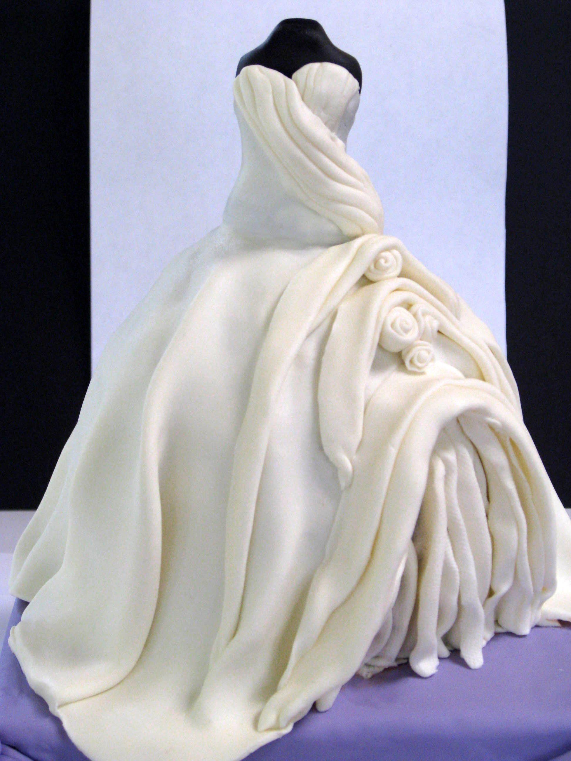 Wedding dress bridal shower cake. Bride\'s dress in cake form :)   My ...
