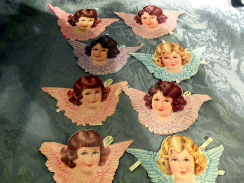 Vintage 1950 60 Paper Scraps Angel Faces Vintage Paper Dolls Scrap Paper Vintage Paper